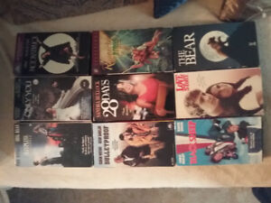 9 VHS movies for $15