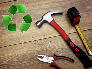 Recycled home reno materials