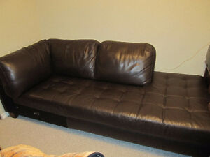 Genuine Leather Couch/daybed