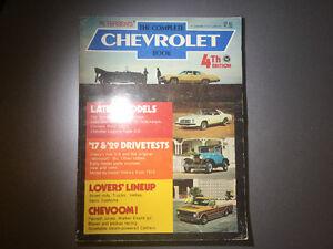 1975 Chevy Book Boogie Van Camaro Corvair K-5 Blazer C10 Racing