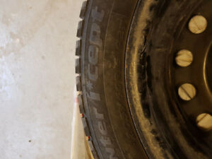 2005 Toyota camry winter tires,  only 2000km used. Specs in pic
