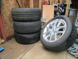 """4 17"""" FORD  Aluminum Rims and Tires"""