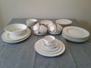 73 piece Vintage Snowwhite Regency dinnerware Johnson Brothers
