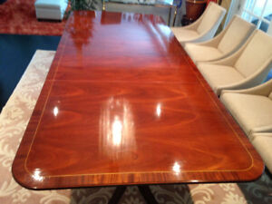 "108"" Large Double Pedestal Dining Table"