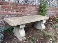 Two stone garden benches £50 each