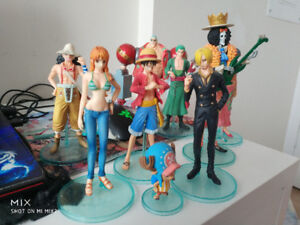 One Piece old Straw hat pirates used defective figma