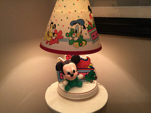 Disney Baby Mickey Mouse light lamp with shade