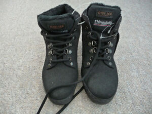 Brand New Black Winter Boots With Thinsulate - Size 5