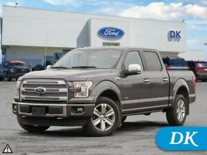 2015 Ford F-150 Platinum Crew, 4WD, 3.5L Eco, Fully Loaded!