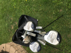 2 right handed golf sets with cart