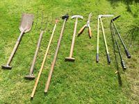Assorted garden tools