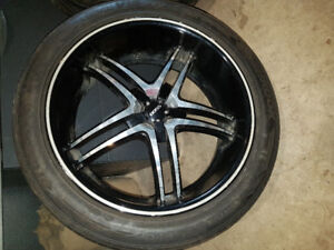 20 inch Boss rims and tires