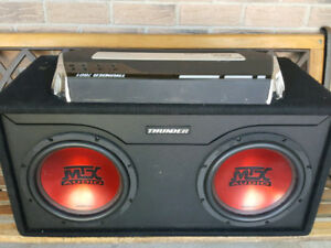 MTX 1200 Watts Amp & 2x MTX 10-Inch Subs In Box