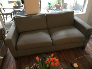 Matching love seat couch and chair