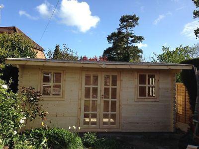NERO LOG CABIN - 5m x 3m - 44mm - Summer House, Garden Building, Home Office