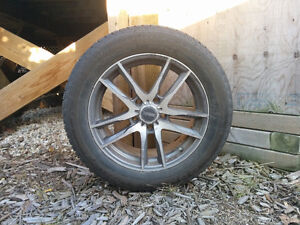 """17"""" Continental Extreme Winter Tires with Rims"""