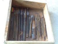 Box of metal files and rasps