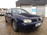 Volkswagen golf 1.6 automatic 2002 52000 MILES ALLOYS, LEATHER SEATS
