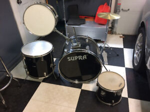 Supra Drum Set Incomplete. You add to or for parts.