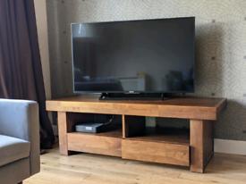 TV Unit Solid Dark Wood