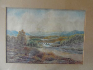 Charming Vintage Original Framed Watercolor painting 'Glengarry' London Ontario image 2