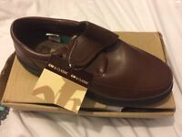Brand new in box brown shoes