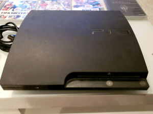 PS3 120GB SLIM + HDMI CABLE + 14 GAMES / JEUX