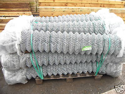 1.8m 25m 50 mm x 50 mm x 3 mm roll Galvanised chainlink mesh fence security dog