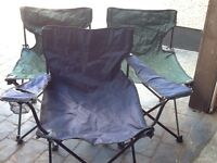 3 Camping/ fishing chairs