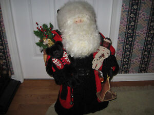 """One of a kind Hand made Santa by Susan; 30"""" high-just finished"""
