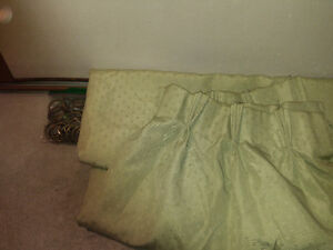 Long Curtain with Brass Rod *Price Reduced*