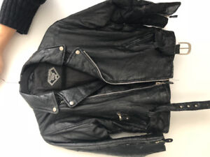 100% real leather Rock & Roll biker / perfecto jacket $50