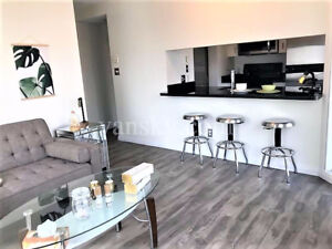 downtown vancouver waterfront one bedroom+den furnished