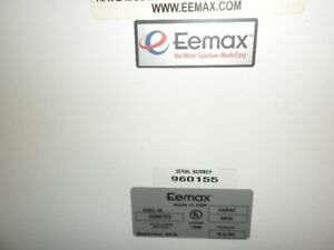 Eemax hot water on demand system