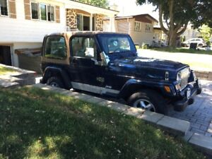 2001 jeep t j wrangler with 159000. k