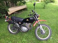 1978 Honda XL 350 6600 km price reduced to $1200 nego