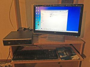 Computer HP hard drive, HP monitor and HP keyboard