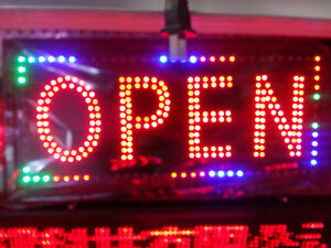 LED OPEN SIGN FOR NEW BUSINESS SIZE 13X27 $60
