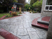 Stamped concrete, Save 30%, Top rated contractor on home stars