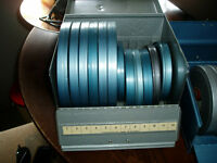 amazing old 8mm home movie collection, metal cases
