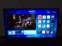 Polaroid 42 inch smart Tv , HDMI , USB , built free-view with wifi