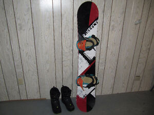 Firefly 54 Snowboard Salomon Faction Boa boots size 10