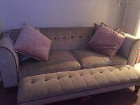 Silver dfs sofa