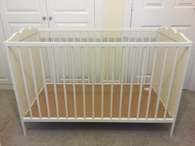 ikea cot bed hensvik cot white 60x120 cm in haywards heath west sussex gumtree. Black Bedroom Furniture Sets. Home Design Ideas