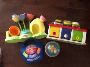 Garden, cars, ball and music player playdough Kingston Kingston Area image 1