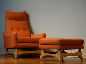 Fauteuil style Adrian Pearsall restauré (Midcentury.Vintage)