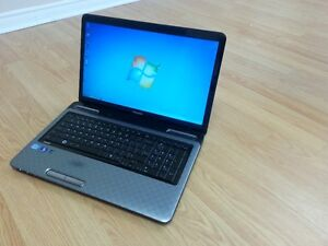 17.3 inch  big screen toshiba satellite L775 windows7