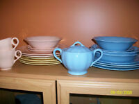 Various antique dishes