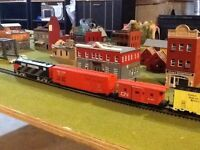 Model train layout HO scale