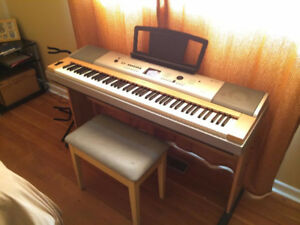 Yamaha Piano DGX-630 + Stand+pedal+bench (88 weighted keys)